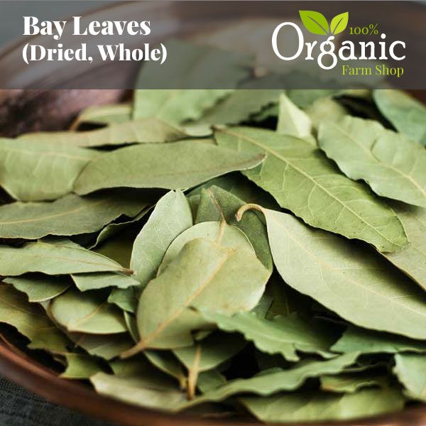 Bay Leaves (Dried, Whole) - Certified Organic