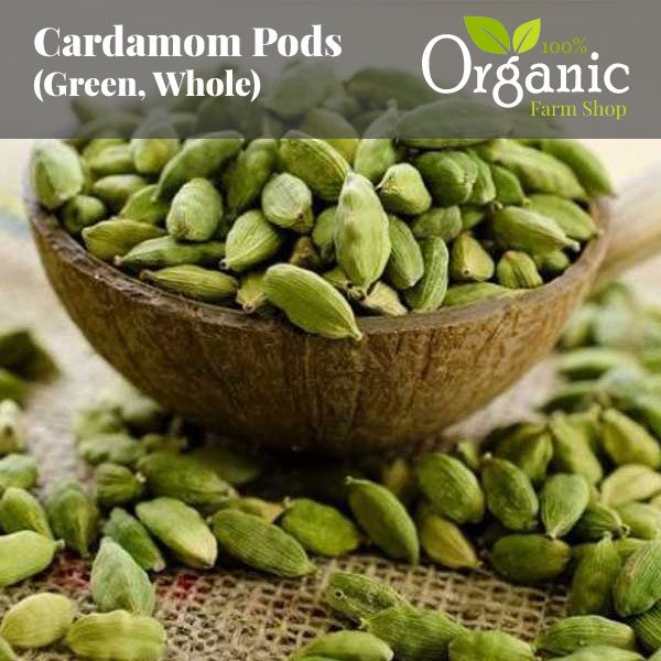 Cardamom Pods (Green, Whole) - Certified Organic