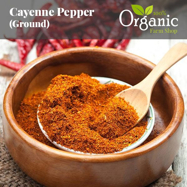 Cayenne Pepper (Ground) - Certified Organic