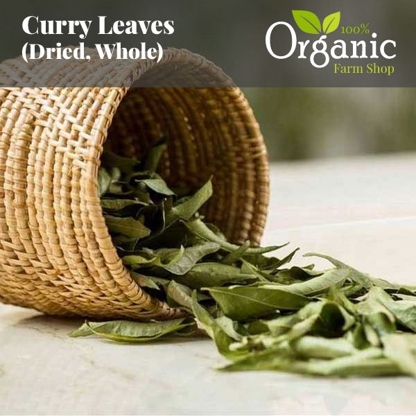 Curry Leaves (Dried, Whole) - Certified Organic
