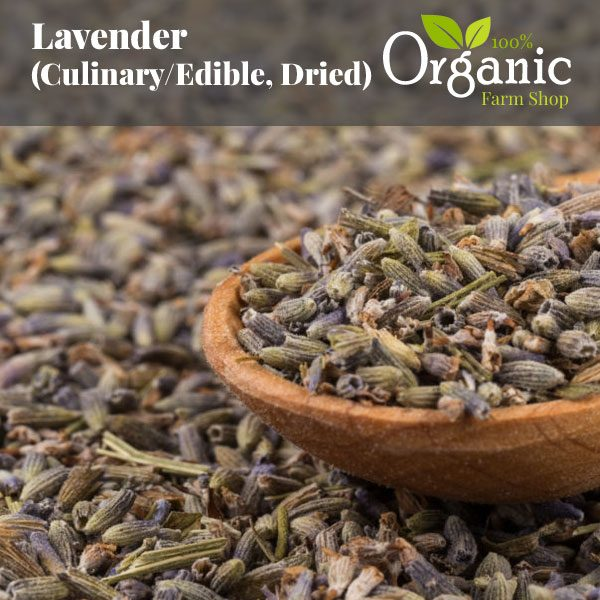 Lavender (Culinary/Edible, Dried) - Certified Organic