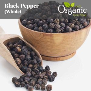 Black Peppercorns (Whole) - Certified Organic