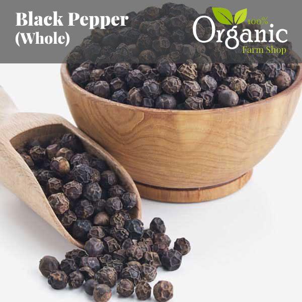 Black Peppercorns (Whole) - Certified Organic
