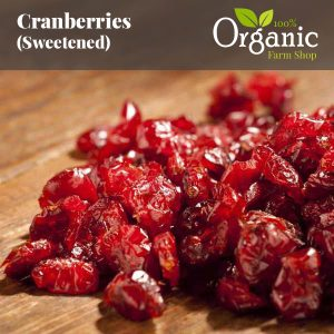 Cranberries (Sweetened) - Certified Organic