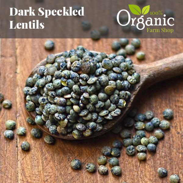 Dark Speckled Lentils - Certified Organic