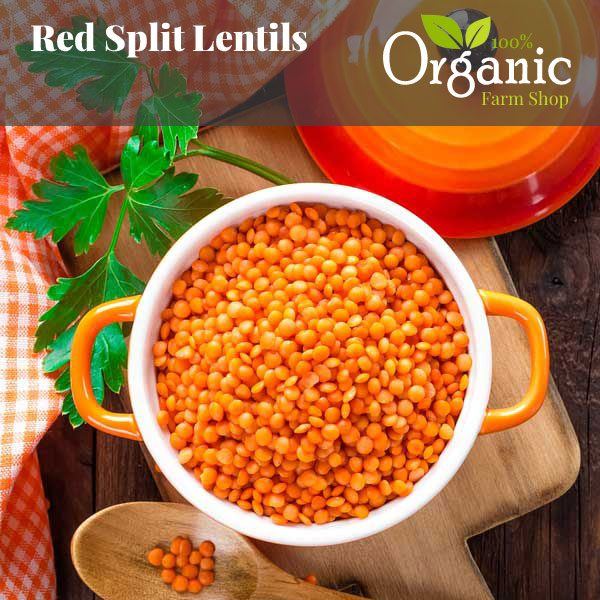 Red Split Lentils - Certified Organic