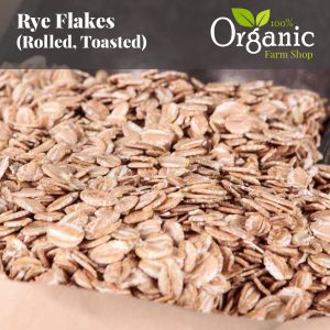 Rye Flakes (Rolled, Toasted) - Certified Organic