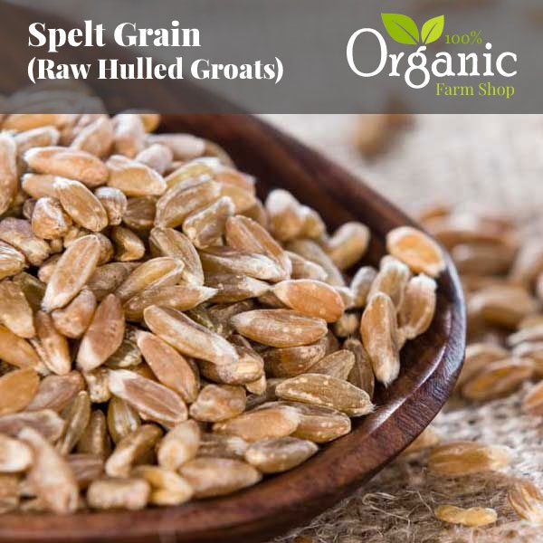 Spelt Raw Grain (Hulled Groats) - Certified Organic