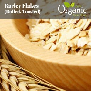 Barley Flakes (Rolled, Toasted) - Certified Organic