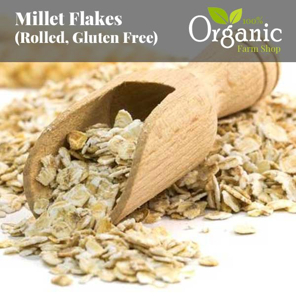 Millet Flakes (Rolled, Gluten Free) - Certified Organic