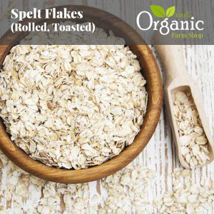 Spelt Flakes (Rolled, Toasted) - Certified Organic
