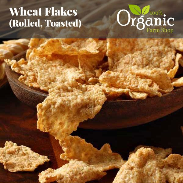 Wheat Flakes (Rolled, Toasted) - Certified Organic