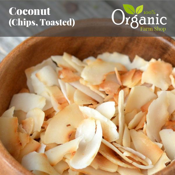 Coconut (Chips, Toasted) - Certified Organic