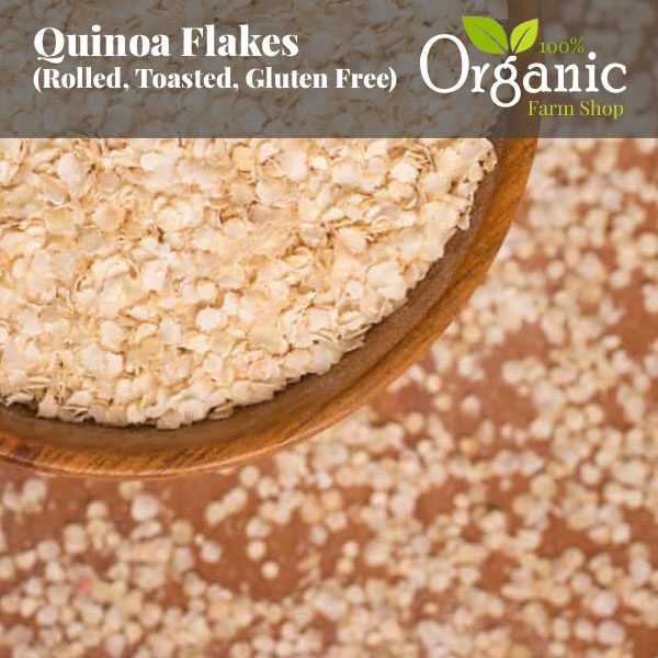 Quinoa Flakes (Rolled, Toasted, Gluten Free) - Certified Organic