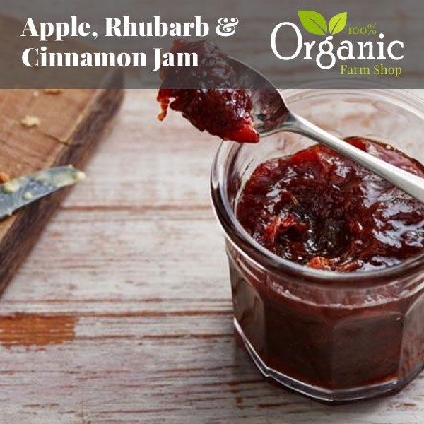 Apple, Rhubarb & Cinnamon Jam - Organic