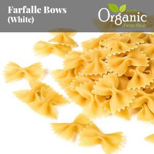 Farfalle Bows (White) - Certified Organic
