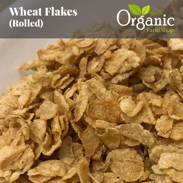 Wheat Flakes (Rolled) - Certified Organic